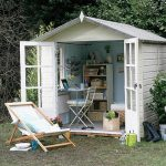 Wonderful Cool Fantastic Good Idea Hed Turned Into A House With Shed To Office Space Concept Made Of Wood With White Coloring Choice