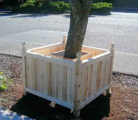 Incredible Design Of Wood Planter Boxes For Big Plants Homesfeed
