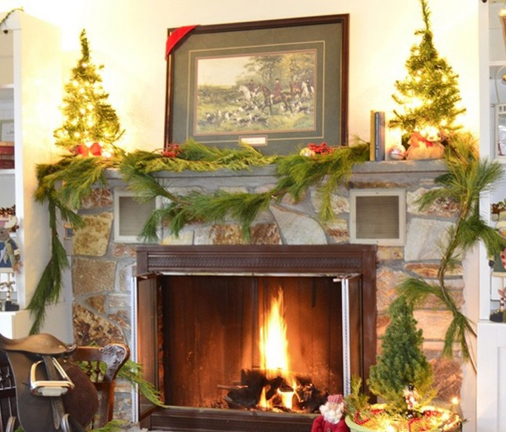 Wonderful Cool Nice Decorations Splendid Fireplace And Mantel