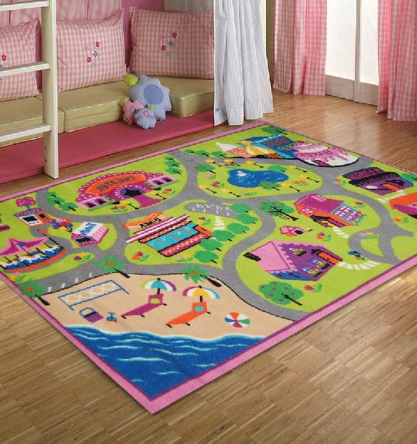 colorful design of kids rug for small room homesfeed. Black Bedroom Furniture Sets. Home Design Ideas