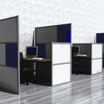 Wonderful Modern Nice Attractive Office Divider With Black Border Concept With Small Design And Has Nice Border With Grey Flooring Design 728x452