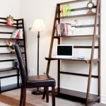 Wonderful Nice Adorable Cool Fantastic Ladder Desk With Large Desing With Nice Bookshelf Concept Made Of Wood With Small Chair 728x898