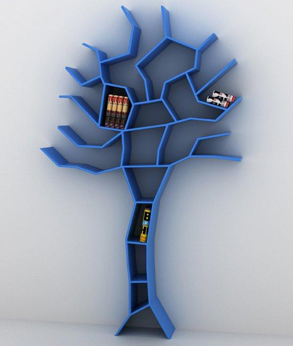 Wonderful Nice Adorable Cool Tree Shaped Bookshelf