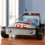 Wonderful Nice Adorable Masculine Cool Race Car Bed For Toddler With Contemporary Race Car Beds For Kids With Real Wheels Look