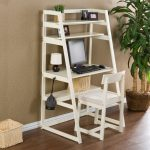 Wonderful Nice Conceptive Adorable Cool Ladder Desk With Wooden White Coloring Concept Design With Classic White Chair Design 728x728