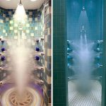 18 numbers of head shower in all sides of shower space