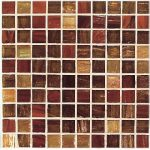 Casa Antica glass mosaic tiles in vvariant brown colors