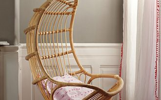 Hanging chairs for kids made from rattan