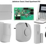 Jablotron oasis bed apartment alarm system with completed kits using wireless system for full protection