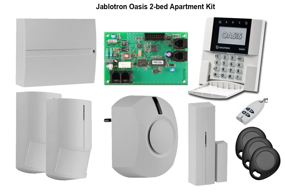 Jablotron Oasis Bed Apartment Alarm System With Completed Kits Using Wireless For Full Protection