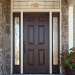 Pella Select storm door seen from the outside