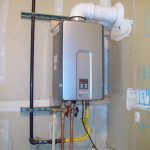Rinnai tankless water heater advantages the installation with white plumbing in small space