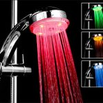 Shower head lights in different colors