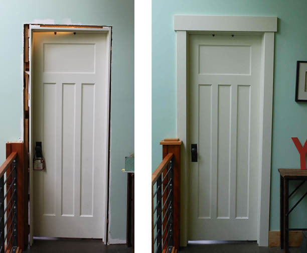Etonnant A Door Transformation Before And After Being Installed The Door Casing