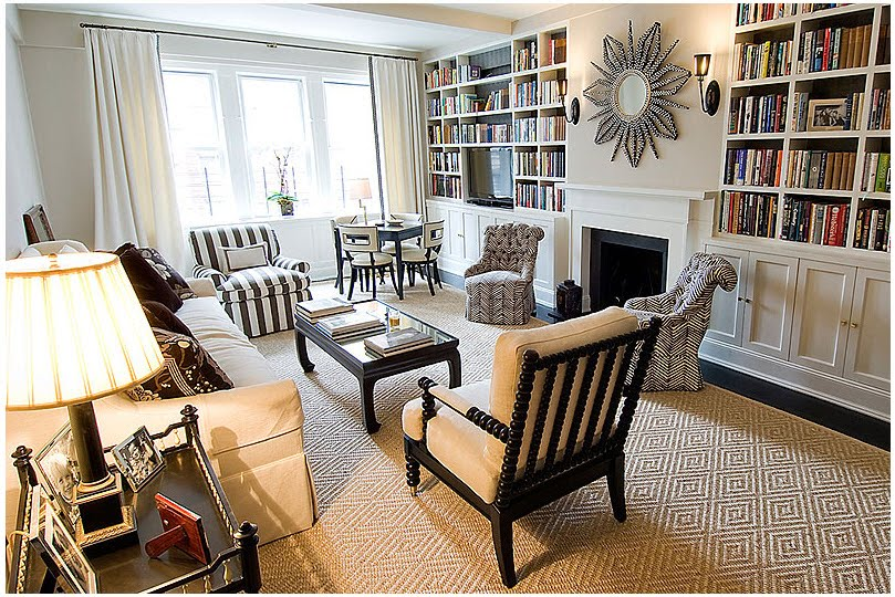 A Light Brown Spool Chair As The Part Of Living Room Furniture Extra Large  Book Shelves