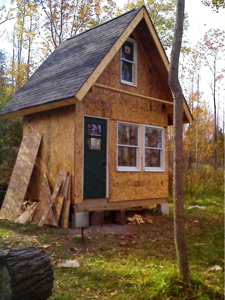 Small rustic cabin plans homesfeed for Tiny cabin plans with loft