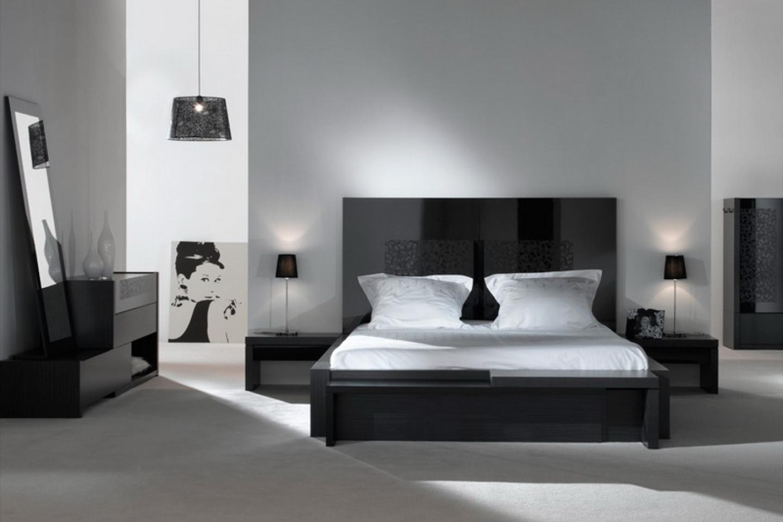 Adorable Black Bedroom Design With
