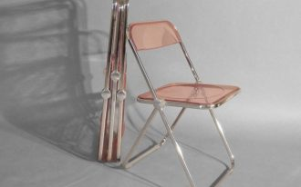 adorable-cool-modern-great-lucite-folding-chair-with-red-tansparent-glass-design-and-has-steen-made-legs