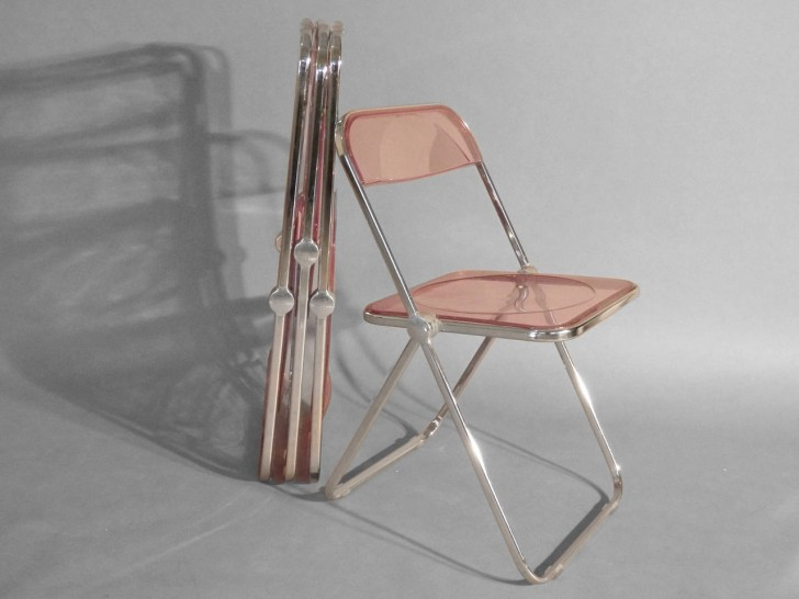 Colorful Lucite Folding Chairs Design