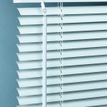 aluminum window blinds in white color