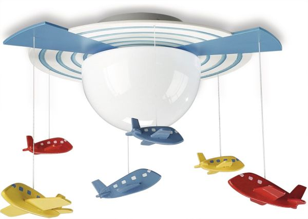Modern Attractive Airplane Light Fixture Concept For Kids Room - Kids room fans