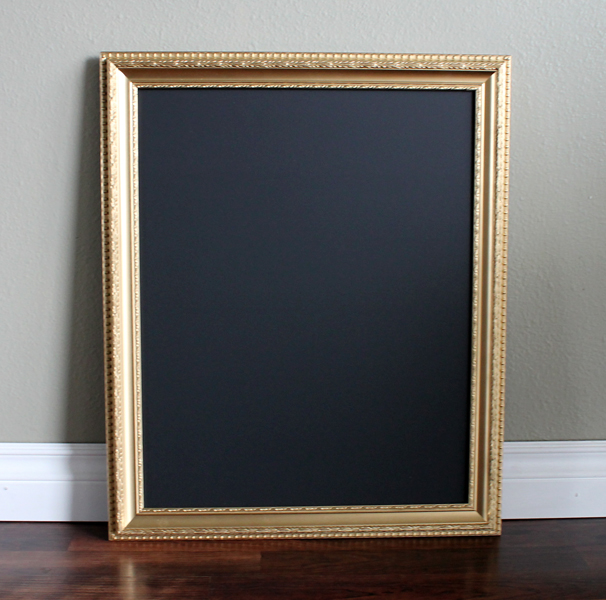 amazing cool luxurious nice large gold framed chalkboard