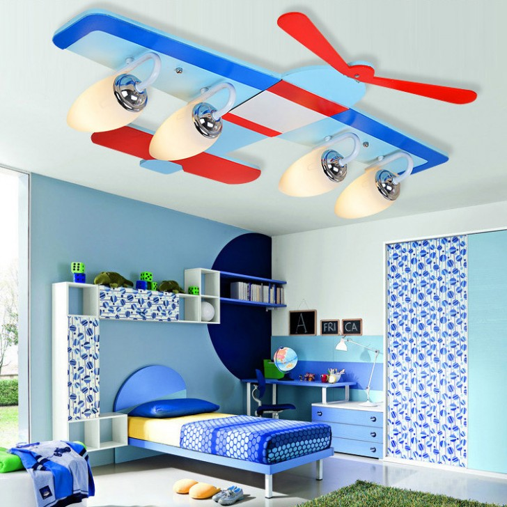 modern attractive airplane light fixture concept for kids room homesfeed. Black Bedroom Furniture Sets. Home Design Ideas