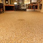 amazing-nice-cool-attractive-painting-basement-floor-for-garage-slide-with-yellow-dotted-flooring-for-compact-basement
