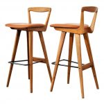 amazing-nice-original-soft-awesome-cool-bar-stool-kaufman-gallery-hansen-stools-with-wooden-concept-with-four-legs-with-soft-seat-simple-back