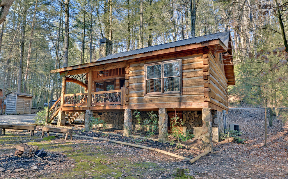 Small rustic cabin plans homesfeed for Unique log cabin designs