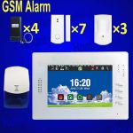 apartment alarm system with GSM alarm font plus wireless system and complete kits