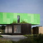 Attractive Modern Elegant Adorable Creative Large Shipping Ontainer House With CrossBox Shipping Container House Vivacious From The Outside In Green Modular Home