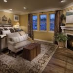 attractive-nice-cool-classic-modern-arabian-mediterranean-bedroom-with-wooden-flooring-concept-and-old-yellow-wall-desing
