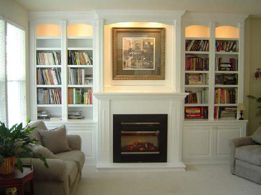 Various Samples of Built in Cabinet Around Fireplace | HomesFeed