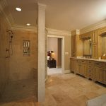awesome-coolest-great-elegant-romantic-arabian-walk-in-shower-without-door-custom-vanity-and-walk-in-shower-classic-tiles-small-room