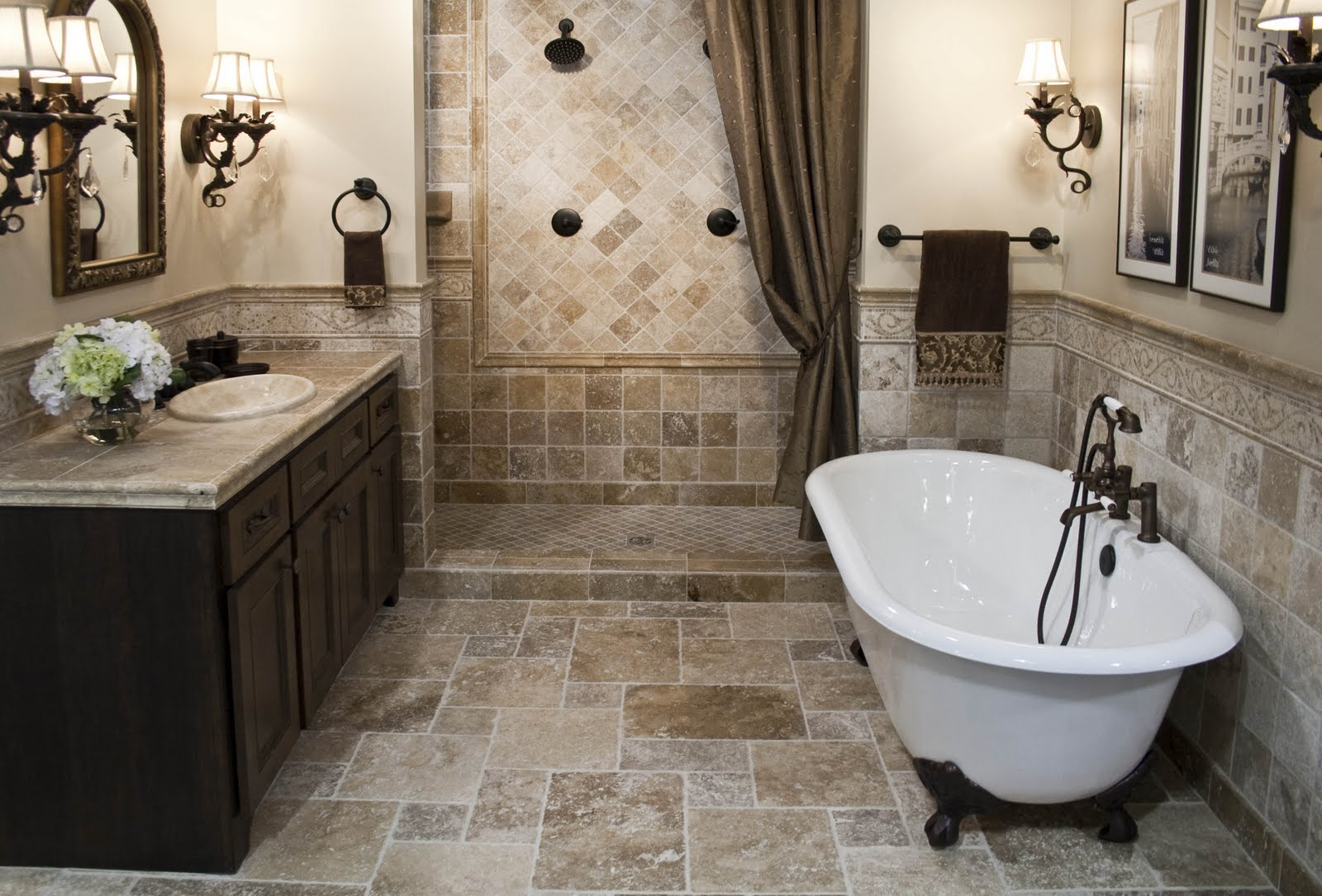 bathroom remodel tile floor. Bathrooms Remodeling With Bath Tub Plus Chic Bathroom Vanity Units Sink And Mirror Wall Remodel Tile Floor