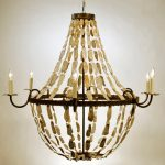 beautiful oyster shell pendant chandelier lighting