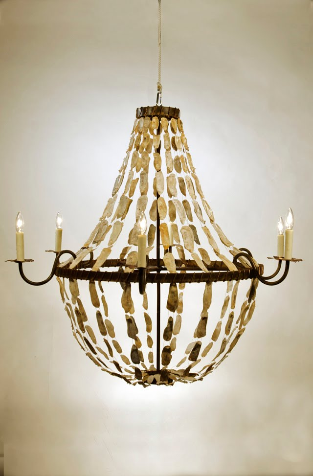 shaded glow omni chandelier by shell flush product oyster shade mount b crystal lighting rectangular