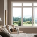 Best Energy Efficient Windows In Bedroom With Fixed Picture And Casement Window Plus Wood Frame And Clear Gazling