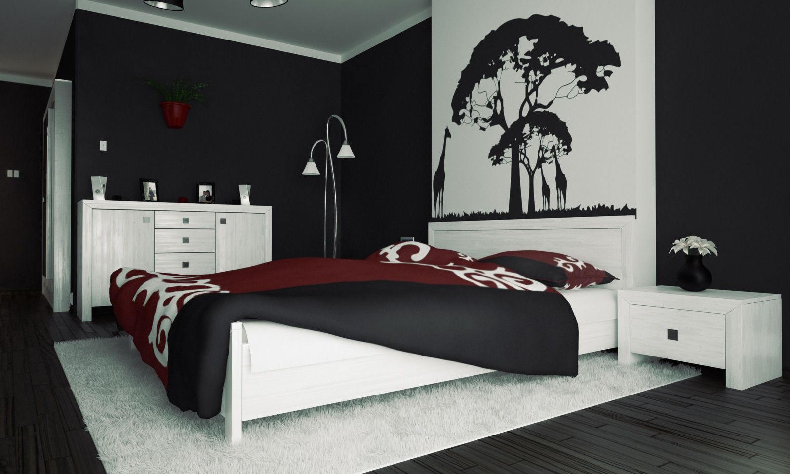 The Elegance Of White And Black Bedroom Ideas That You Can