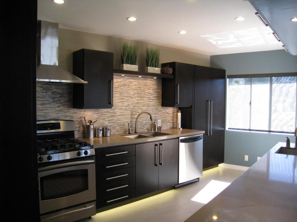 Flat Black Paint Kitchen Cabinets