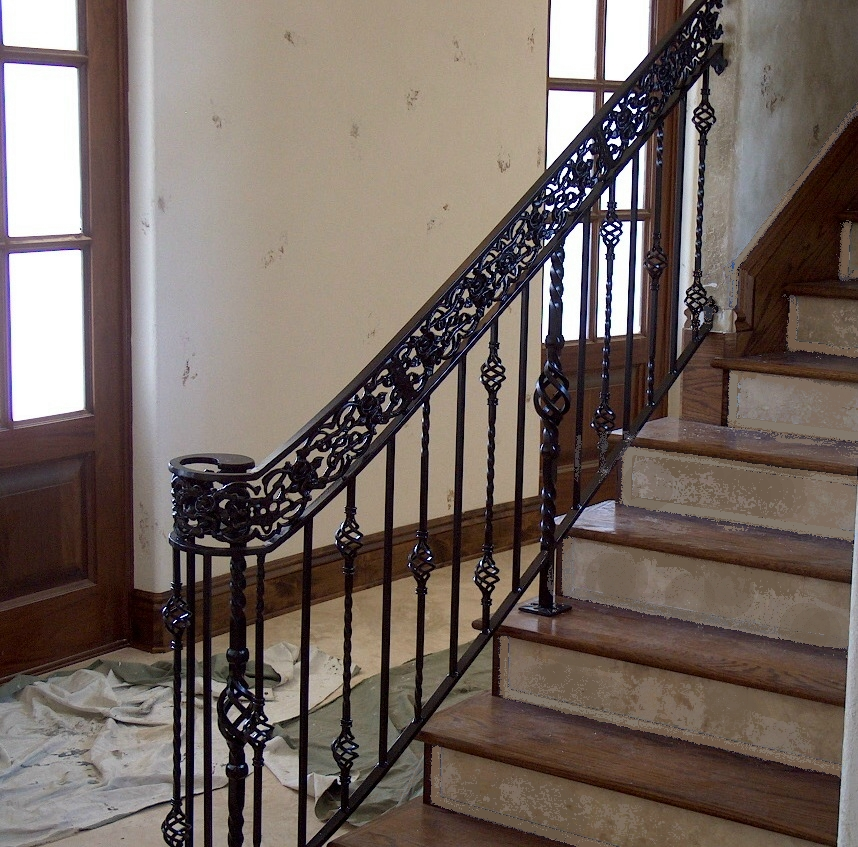 Rod Iron Railing for Interior and Exterior Decorations ...