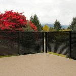 black metal horizontal deck railing