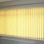bright yellow  vertical blind for office