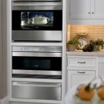 built in drawer for microwave in metal material
