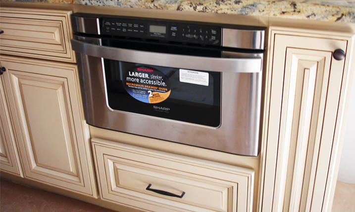 Microwave drawer reviews homesfeed for Built in microwave cabinet size