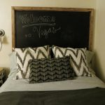 Chalkboard Headboard With Short Message A Comfy Bed Furniture