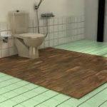 charming green tile floor feats with flush and walk in shower design aside toilet in neutral bathroom remodel on budget