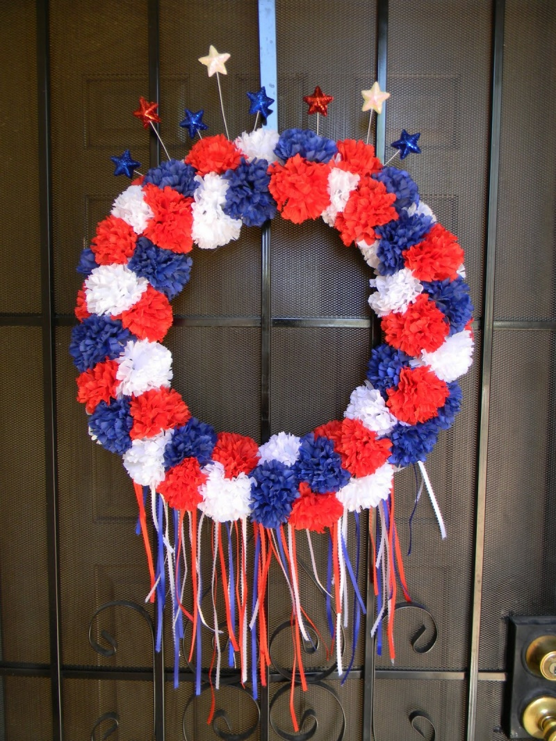 Simple th july wreath