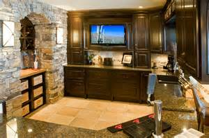 basement wet bar wall. classic basement wet bar ideas decorated with stone arch way and excellent  wooden furniture sets Presenting Awesome Decoration In Basement Wet Bar HomesFeed